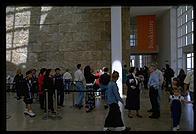 Lining up to buy books. Getty Center.  Los Angeles, California.