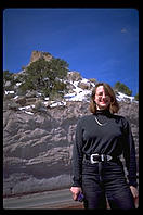 Susie Atlas by the highway going up to Los Alamos, New Mexico