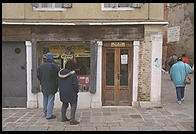 The Lubavitcher Hassidim's storefront in the Venetian ghetto