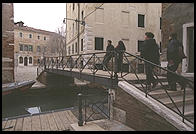 A bridge leading between old and new parts of the Jewish ghetto in Venice.  Note that the additions were made in 1541 and 1633, hence