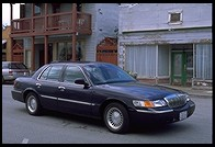 Our Hertz rental Mercury Grand Marquis.   Chinatown.  Isleton, California