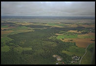 Farmland near Stockholm, view from airplane