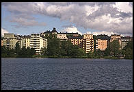 View from the steamboat Prins Carl Philip in Stockholm's harbor