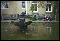 Fountain in Carl Milles museum in Stockholm