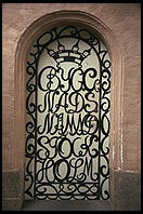 A door of Stadshuset in Stockholm