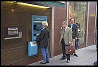ATM in central Stockholm