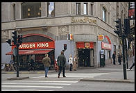 Burger King in central Stockholm