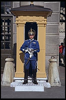 Guard at Royal Palace in Gamla Stan in central Stockholm