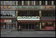 A McDonald's in Stockholm