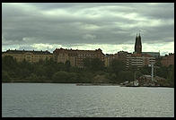 Bridge over Lake Malaren from the steamer S.S. Drottningholm.  Stockholm, Sweden