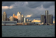 Skyline.  Detroit, Michigan.
