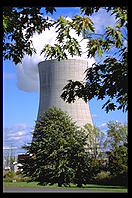 Nuclear power plant cooling tower.  Oswego, New York.