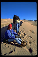 Phil and Rosa.  Great Sand Dunes National Monument.  Mosca, Colorado.
