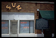 Entrance to Sun studio, Memphis, Tennessee.