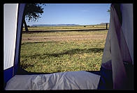 Waking up in my tent in Tucumcari, New Mexico.