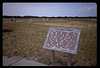Site of the Wright Brothers' first flight.  Outer Banks, North Carolina.