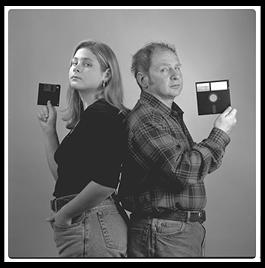 Professor Hal Abelson and daughter Amanda, taken for the back cover of the book they wrote together on the LOGO computer language