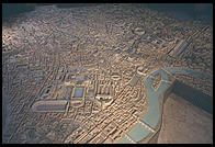 A model of Ancient Rome at the time of Constantine in the Museo della Civilta Romana (Museum of Roman culture) in EUR
