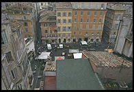 A view of the Campo de Fiori (Rome) from a nearby hotel roof