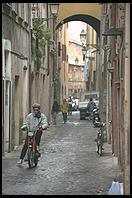 A street leading into the Campo de Fiori (Rome)