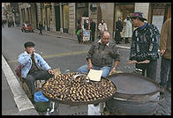 Chestnuts on the street in Rome