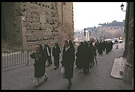 Nuns coming up from the Roman Forum to the Capitol hill