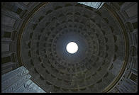 Interior of Rome's Pantheon, built by Hadrian as a temple around AD 120 and converted to a church in the middle ages