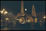 The Creche outside St. Peter's during Christmas 1995