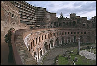 Trajan's Markets, one of the wonders of the Classical world.  The markets were a complex of 150 shops and offices built in the 2nd century AD, not far from Rome's Forum