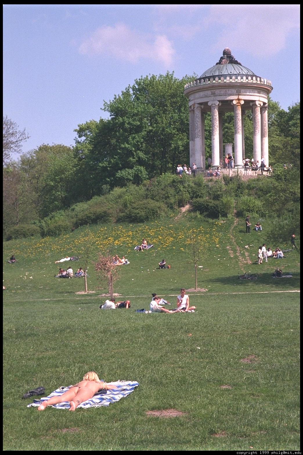 Munich English Garden Augustiner Keller Mnchen Der