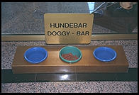Hundebar (Doggy Bar) at Holiday Inn Crowne Plaza.  Munich.