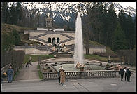 Fountain in front of Linderhof.  Where Bavaria's King Ludwig II lived.