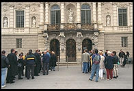 People waiting to get into Linderhof.  Where Bavaria's King Ludwig II lived.
