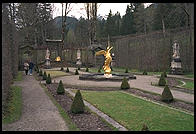 Side yard of Linderhof.  Where Bavaria's King Ludwig II lived.