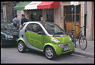SMART car, made by Swatch.  Downtown Munich.