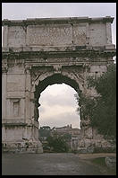The Arch of Titus in the Roman Forum.  It commemorates the victories of the Romans over the Jews in AD 68.