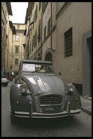 A Citroen in a Florence side street