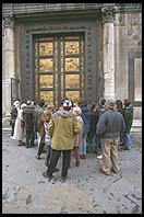 Lorenzo Ghiberti's 10 panels in the east door of Florence's Baptistry (c. 1430)