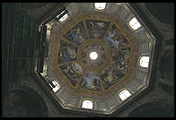 The interior of the dome of San Lorenzo, where Florence's Medici family built their tombs