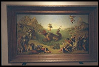 I love the dragon in this painting in the Uffizi