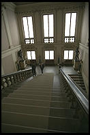 Part of the five-story staircase leading to the Uffizi Gallery
