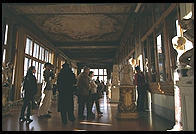 Halfway through the Uffizi, one comes out into a sunny gallery with a view over the Arno