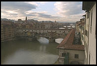 View of the Ponte Vecchio, from the Uffizi Gallery