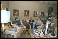 Home of Guido Veroi, from left his wife, Mario Valeriani, Veroi, and me