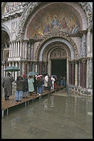 High water entering St. Mark's Cathedral