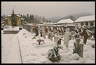 A cemetery in Cortina.  I couldn't help wondering how many died in ski accidents.