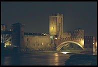 Verona's Castelvecchio at night