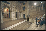 Vicenza's Teatro Olimpico, Europe's oldest surviving indoor theater (designed by Palladio in 1579)