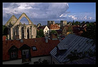 View from Trappgatan.  Visby, Gotland.  Sweden