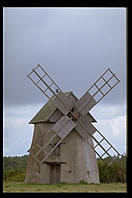 Windmill on Faro. Northern Gotland.  Sweden